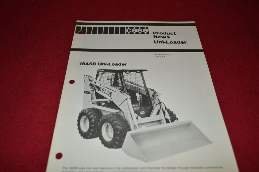 Case Tractor Showroom : Case tractor b skid steer uni loader dealer s brochure