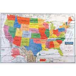 USA US MAP Poster Size Wall Decoration Large MAP of United States 40''x28'' D02