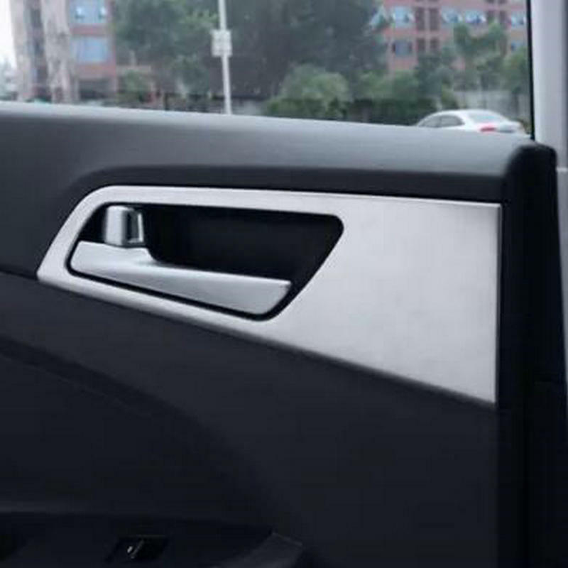 4pcs car abs interior door handle bowl cover trim for lhd hyundai tucson 2016 ebay. Black Bedroom Furniture Sets. Home Design Ideas