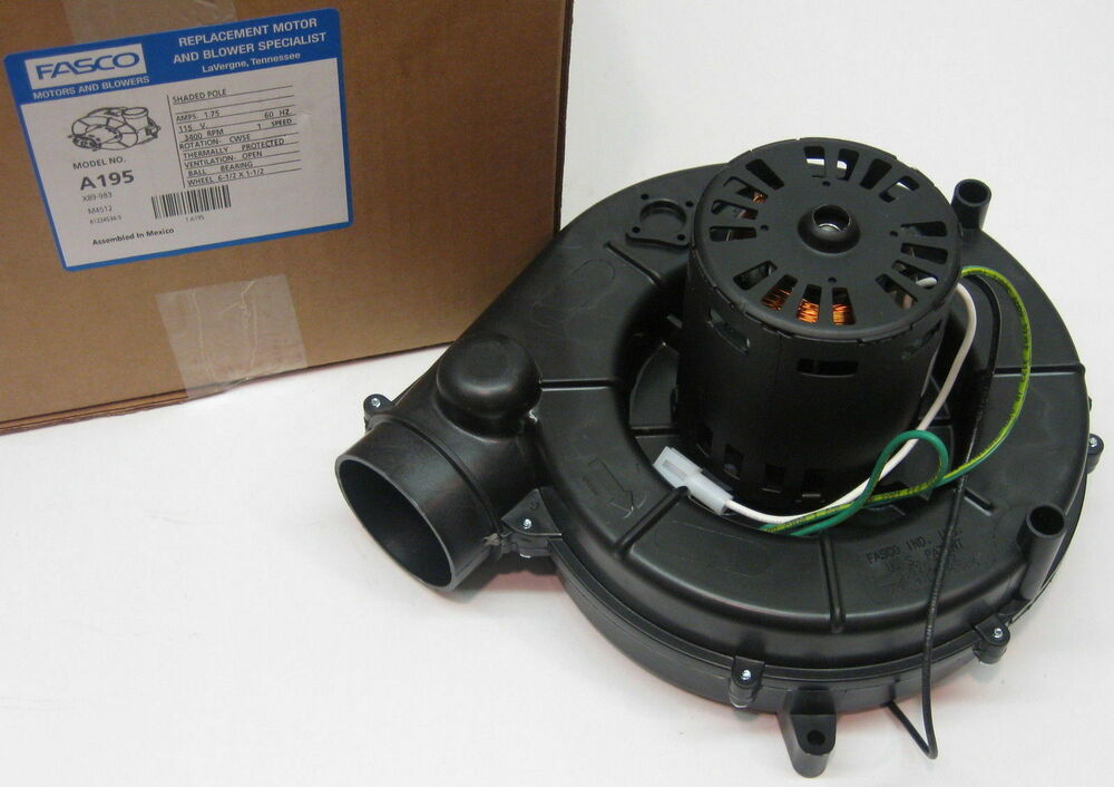 A195 Fasco Furnace Draft Inducer Blower Motor Fits Trane