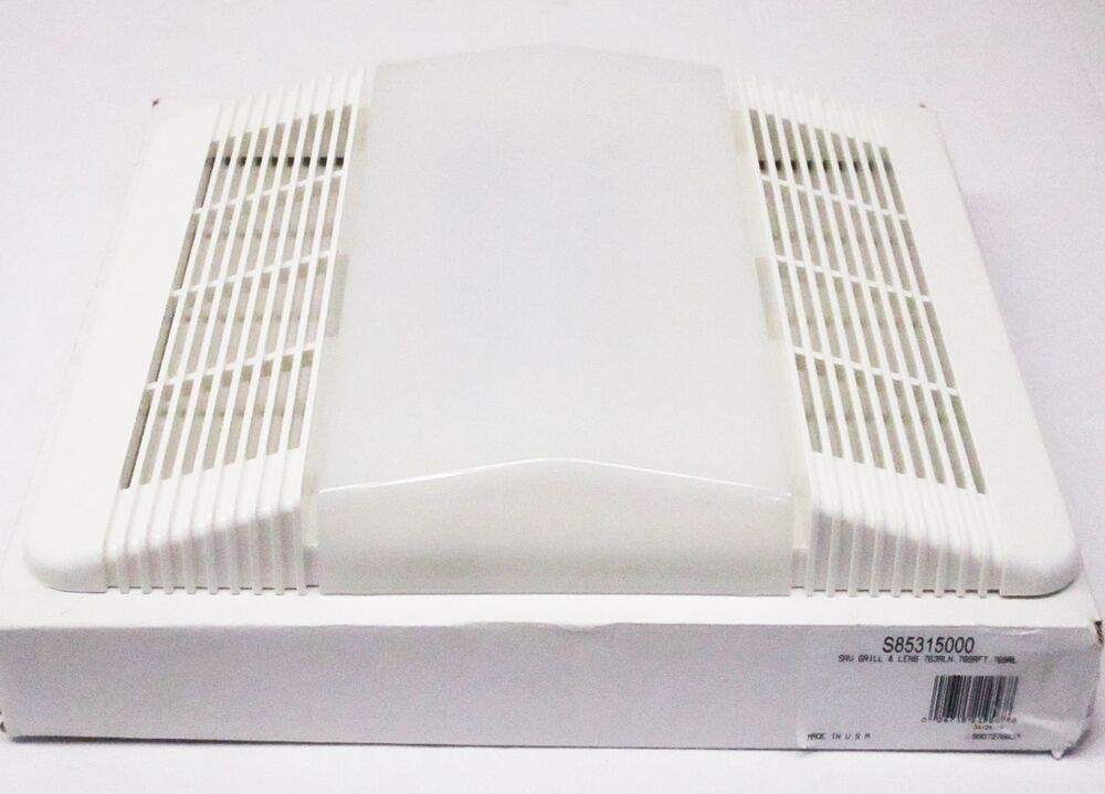 bathroom exhaust fan light cover 85315000 nutone grille light lens for bathroom fan exhaust 22072