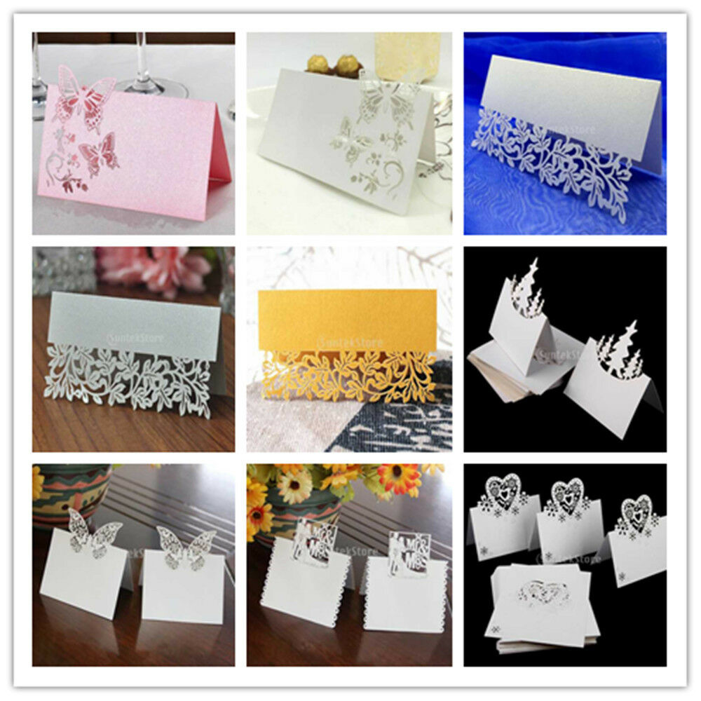50pcs table name place cards for wedding parties decor for Design table name cards