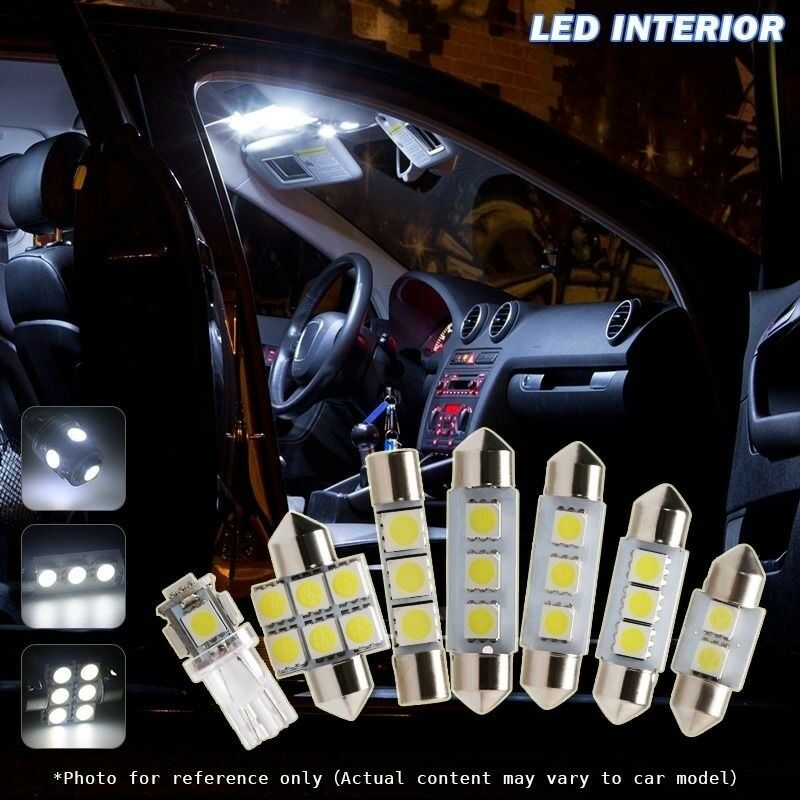 5pcs xenon white car led interior lights package for 2005 2011 chevrolet aveo ebay. Black Bedroom Furniture Sets. Home Design Ideas