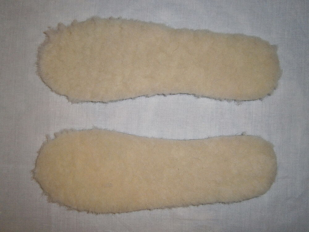 Warm Soft Comfy 100% Wool Thermal Insoles Womens Mens