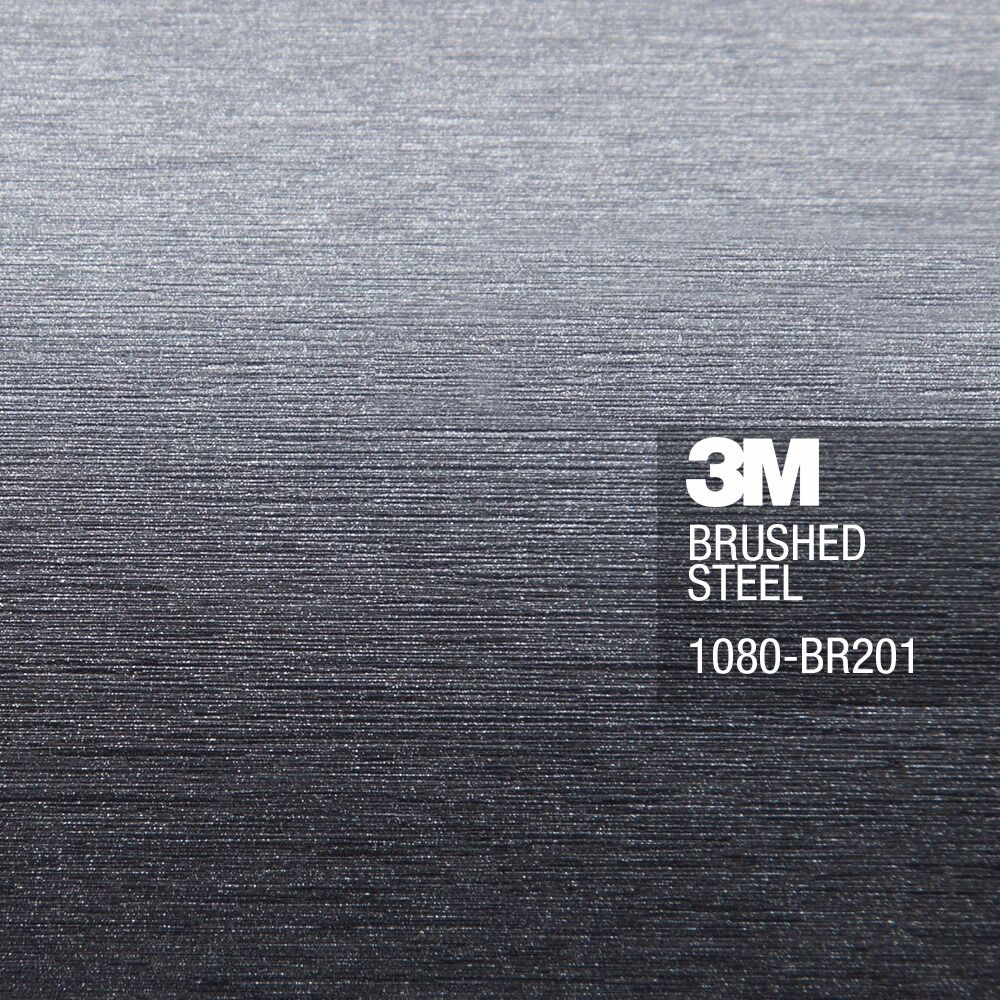 3m 1080 brushed steel vinyl car wrap decal ebay. Black Bedroom Furniture Sets. Home Design Ideas