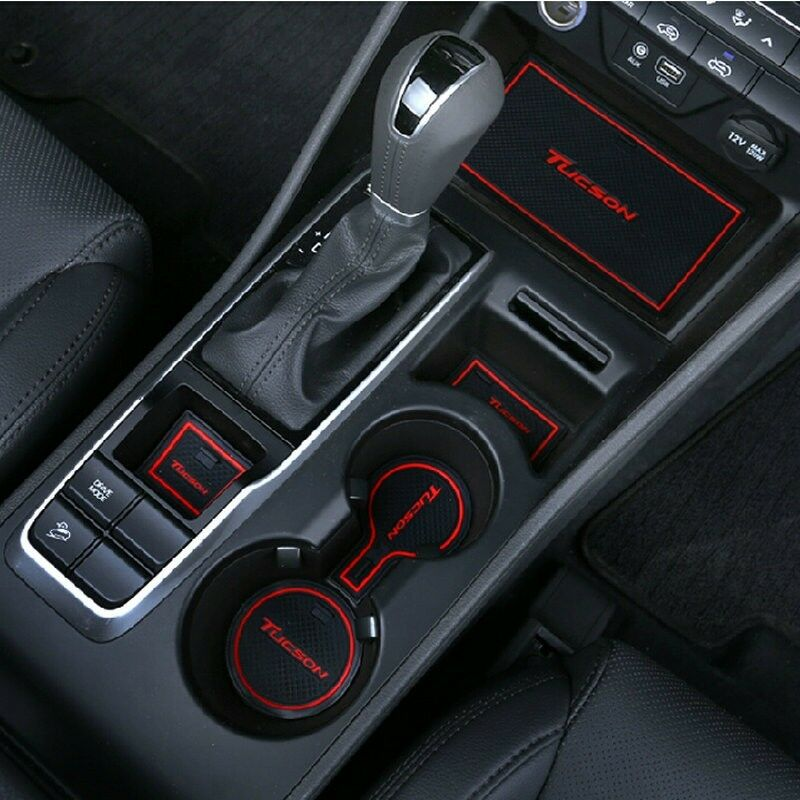 20pcs Interior Gate Slot Mat Cup Holder Pad Rubber For