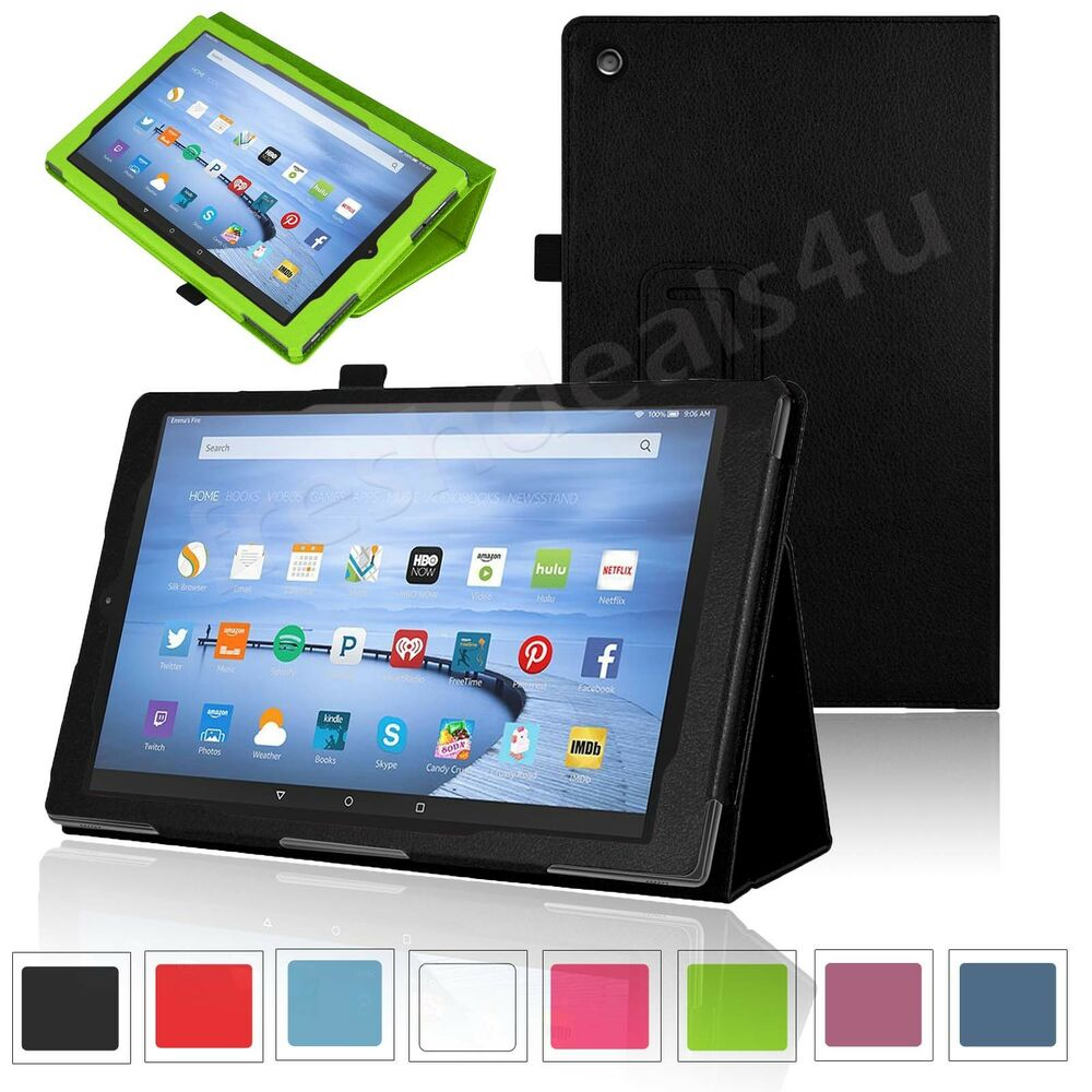 NEW LEATHER CASE COVER FOR AMAZON KINDLE FIRE 7, FIRE HD 8 ...