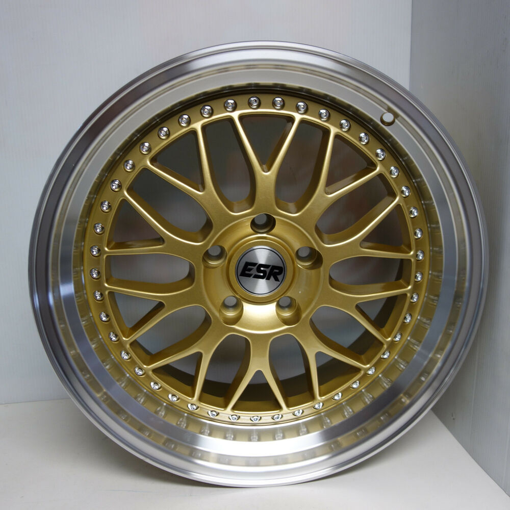 17x8.5 SR01 GOLD VSXX WHEELS FLUSH FIT ACURA RSX TSX TL