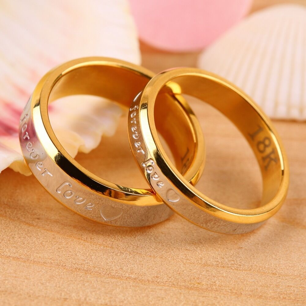 gold wedding rings sets usa 2pcs 18k gold forever engagement 4561