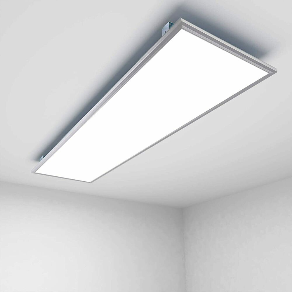 led panel 120x30cm 36w 48w 72w deckenleuchte einbauleuchte ultraslim mit trafo ebay. Black Bedroom Furniture Sets. Home Design Ideas