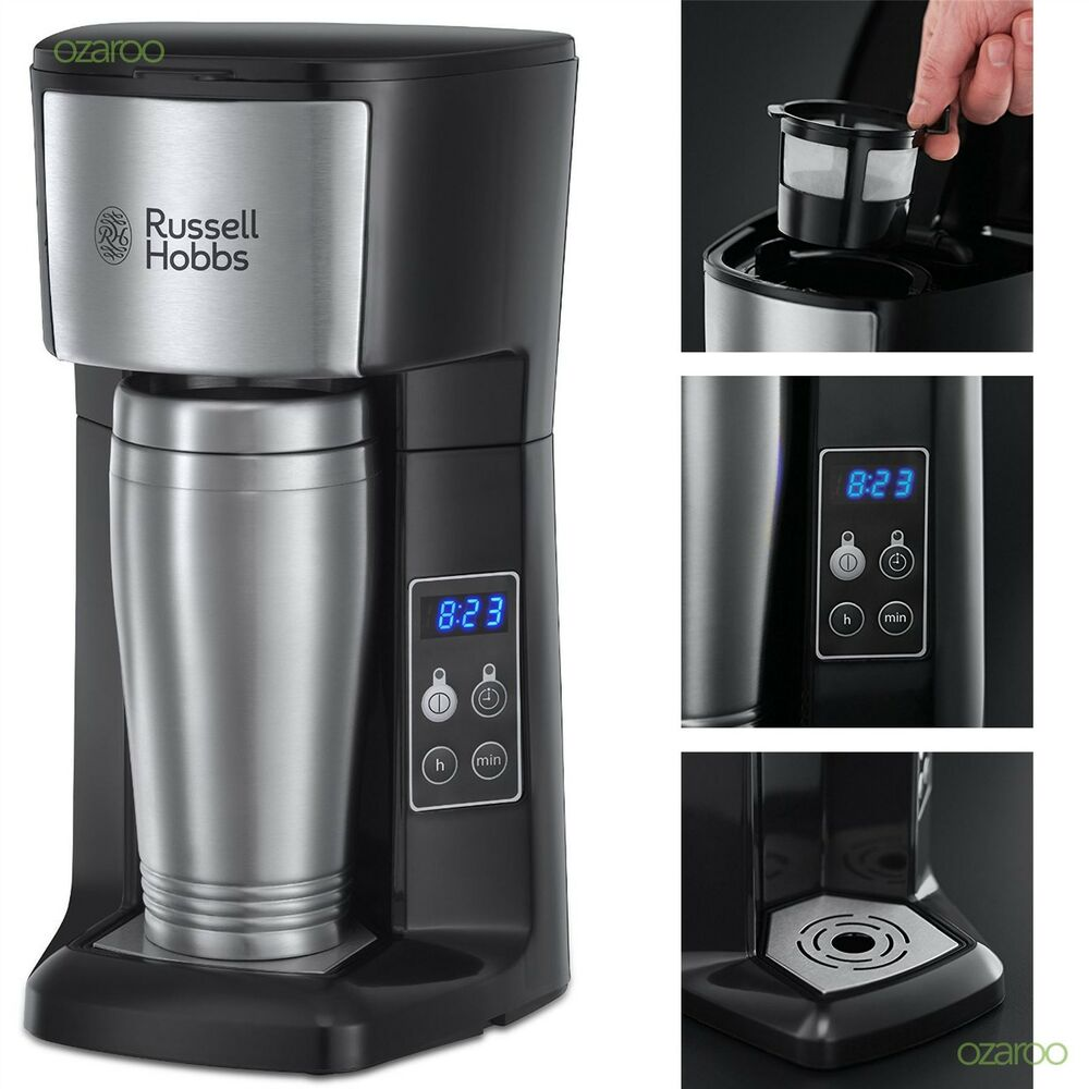 Coffee Maker Automatic Timer : New Russell Hobbs Brew and Go Coffee Machine With Timer & Travel Flask 22630 eBay
