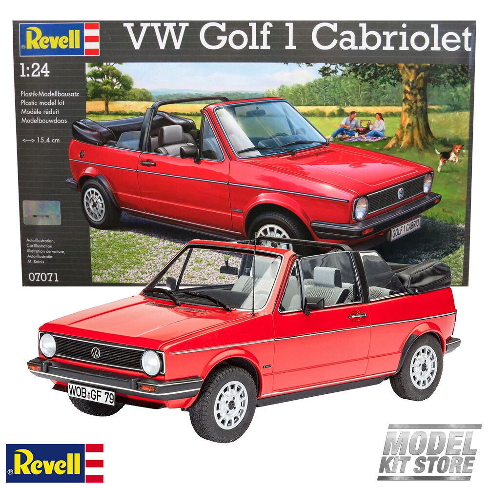 vw golf 1 cabriolet 1 24 revell young old car model kit 7071 new ebay. Black Bedroom Furniture Sets. Home Design Ideas