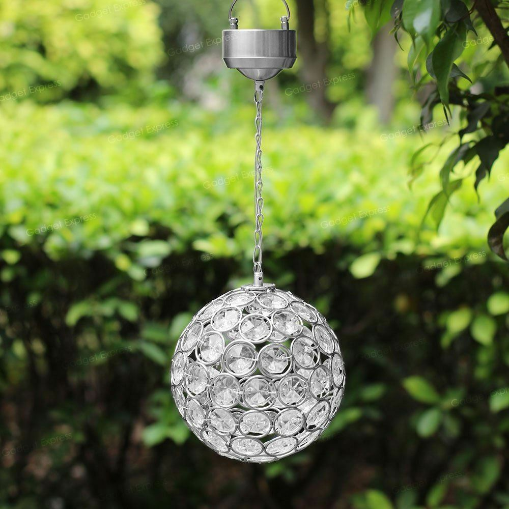 solar powered led garden hanging light lantern decoration outdoor ebay