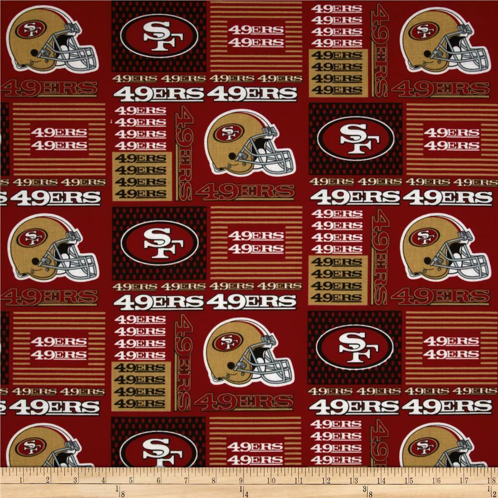 nfl san francisco 49ers patch 100 cotton fabric by the 1 2 yard ebay