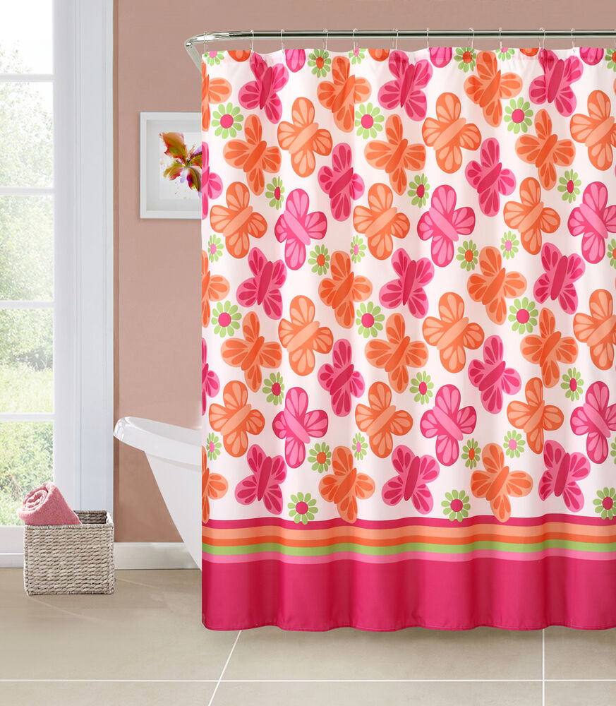 Brown floral curtains