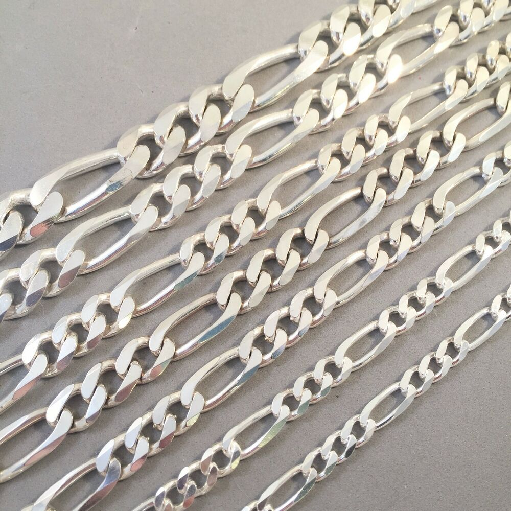 Close Out Price 925 Sterling Silver Heavy Figaro Chain