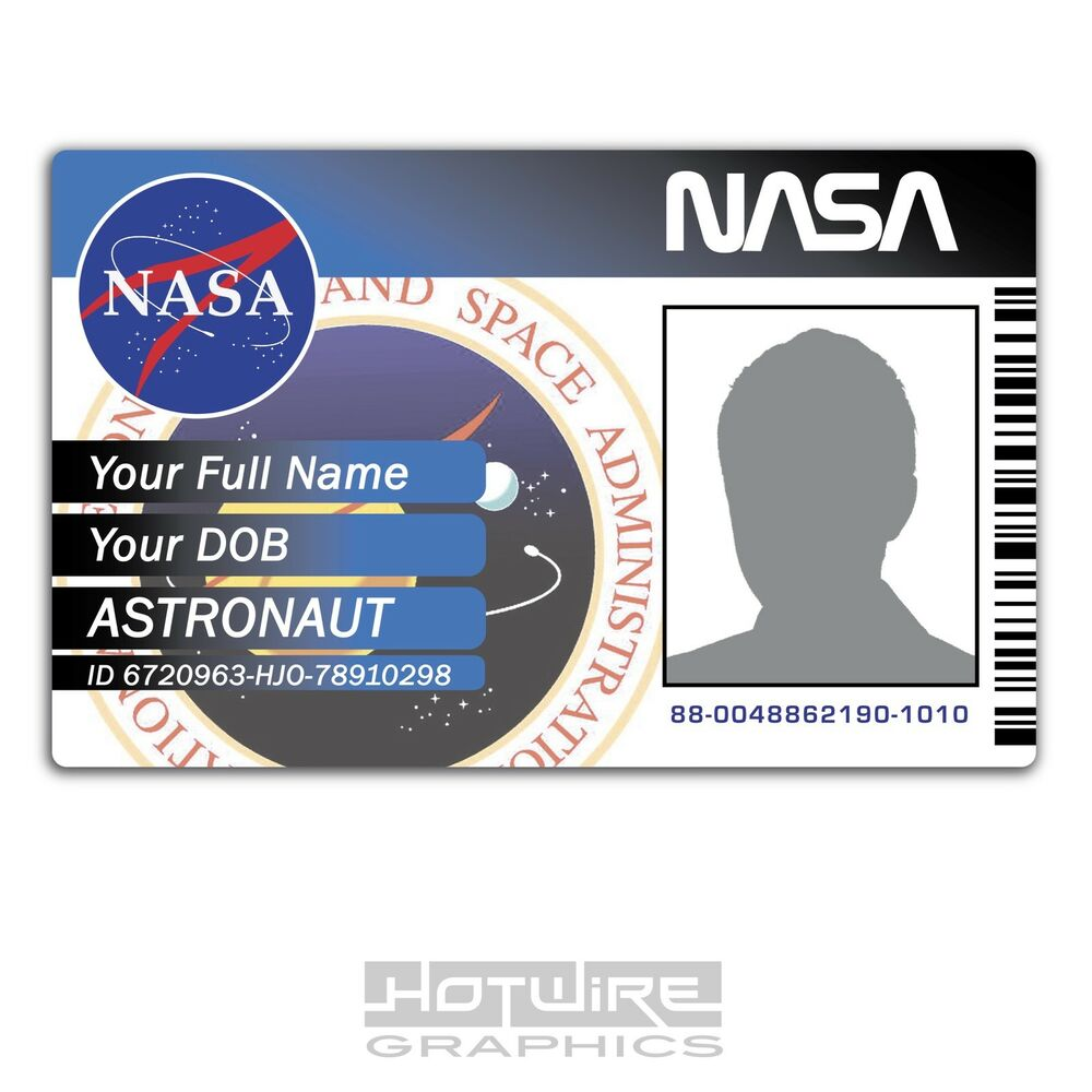 PERSONALISED Printed Novelty ID- Space Exploration NASA Card Pass - Funny Sci-Fi | eBay