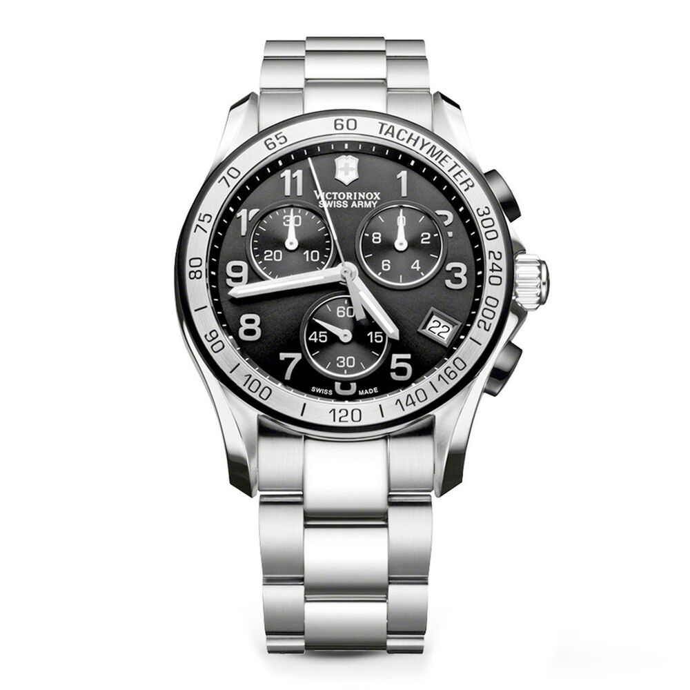 Victorinox swiss army watch chrono classic 241403 chronograph quartz mens ebay for Victorinox watches