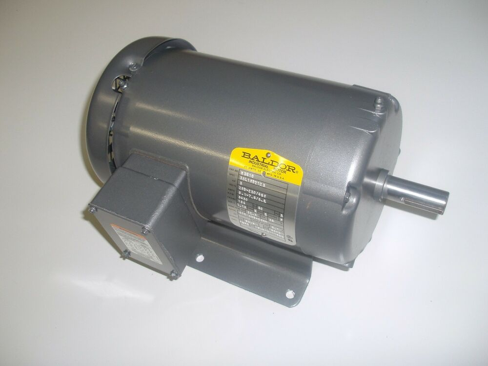 Baldor m3610 3hp ac three phase 182t frame electric motor for 3 phase 3hp motor