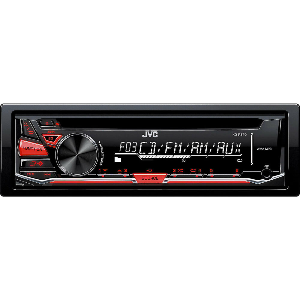 JVC 1-DIN Car Stereo CD Player Receiver With Aux In
