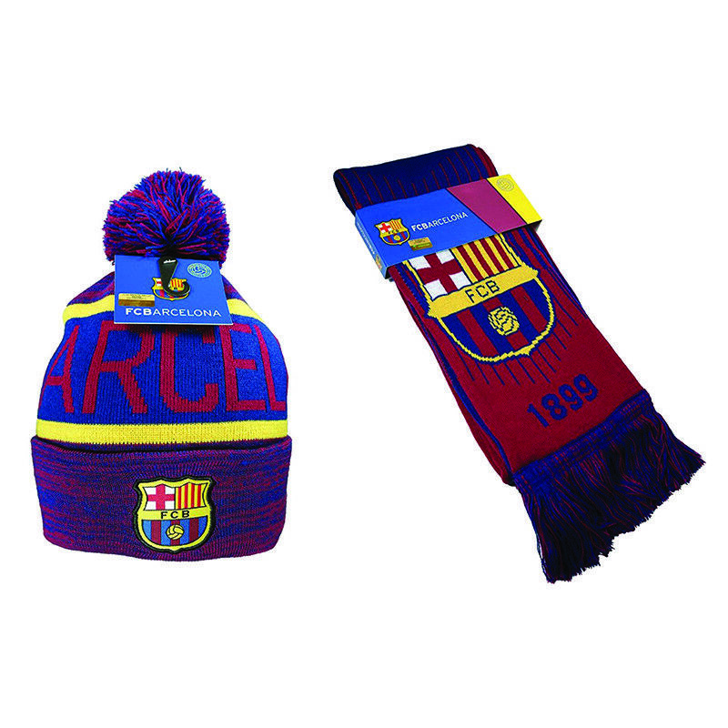 FC Barcelona Scarf Bar Maroon Red Blue Winter Lionel Messi ...