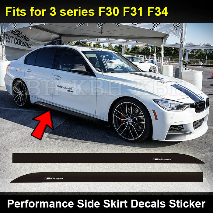 2pcs m performance side skirt sill decal sticker for bmw. Black Bedroom Furniture Sets. Home Design Ideas