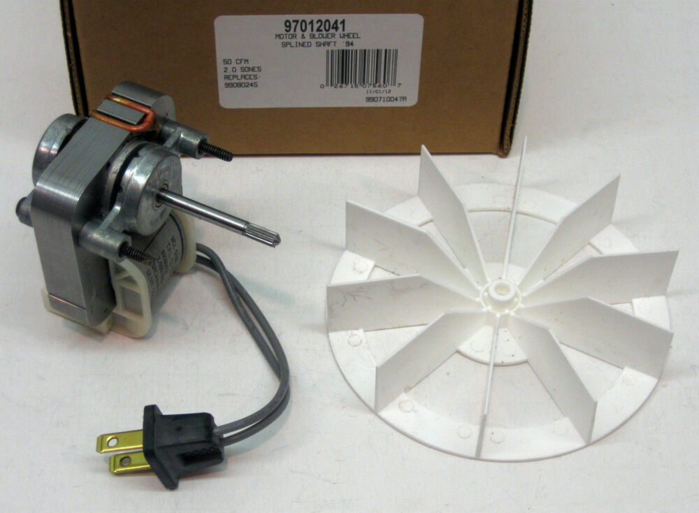 97012041 Broan Nutone Bathroom Vent Fan Motor Wheel 50