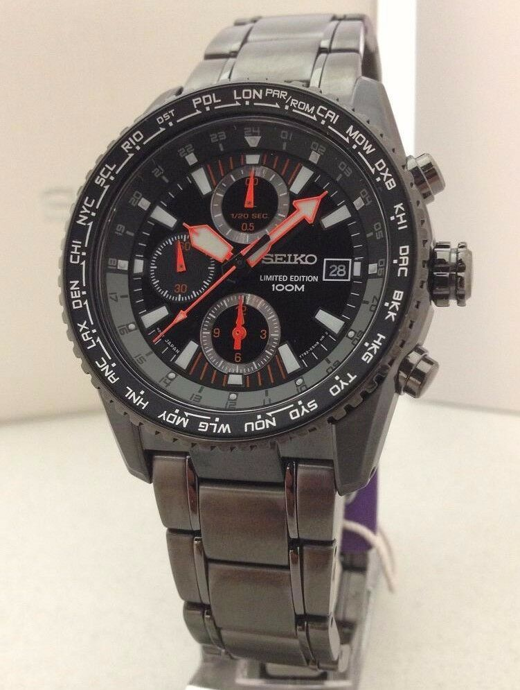 Seiko criteria chronograph men 39 s watch sndd21p1 ebay for Watches on ebay