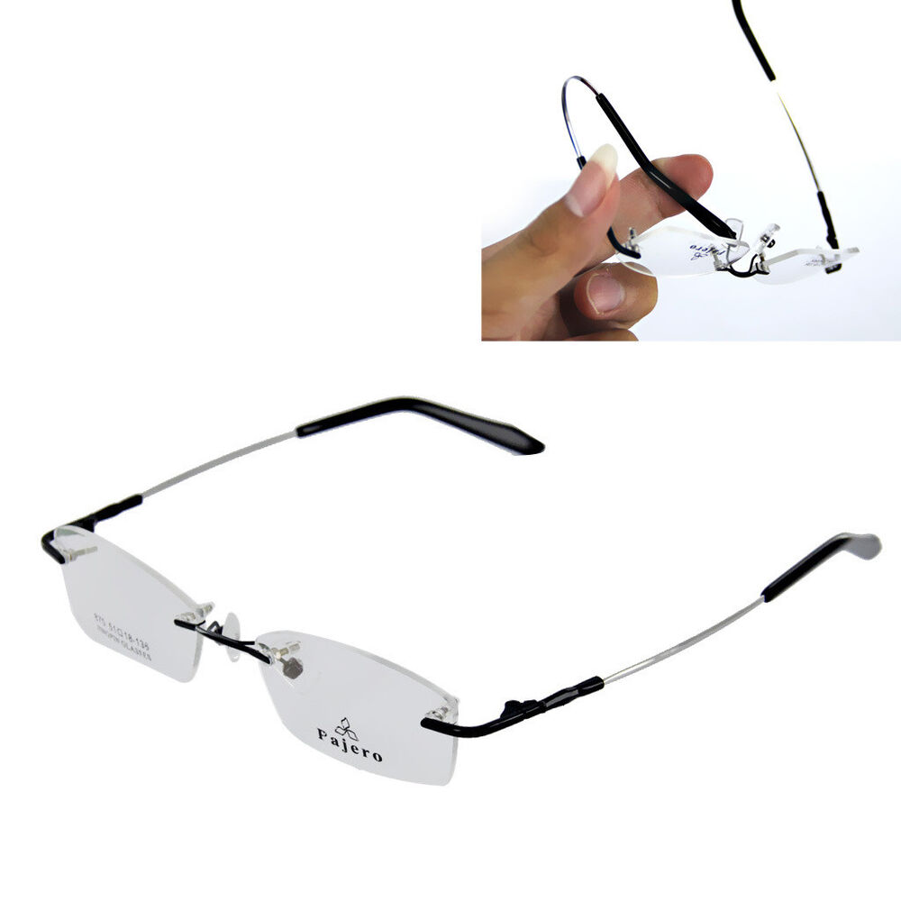 Memory Metal Rimless Designer Glasses Eye Glasses ...