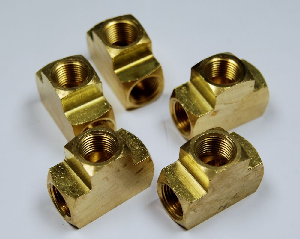 Brass fittings tee extruded forged pipe female
