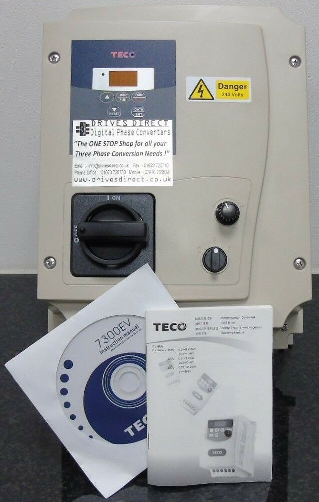Teco ev 2hp 240v single to 3 phase converter inverter 3hp 220v single phase motor