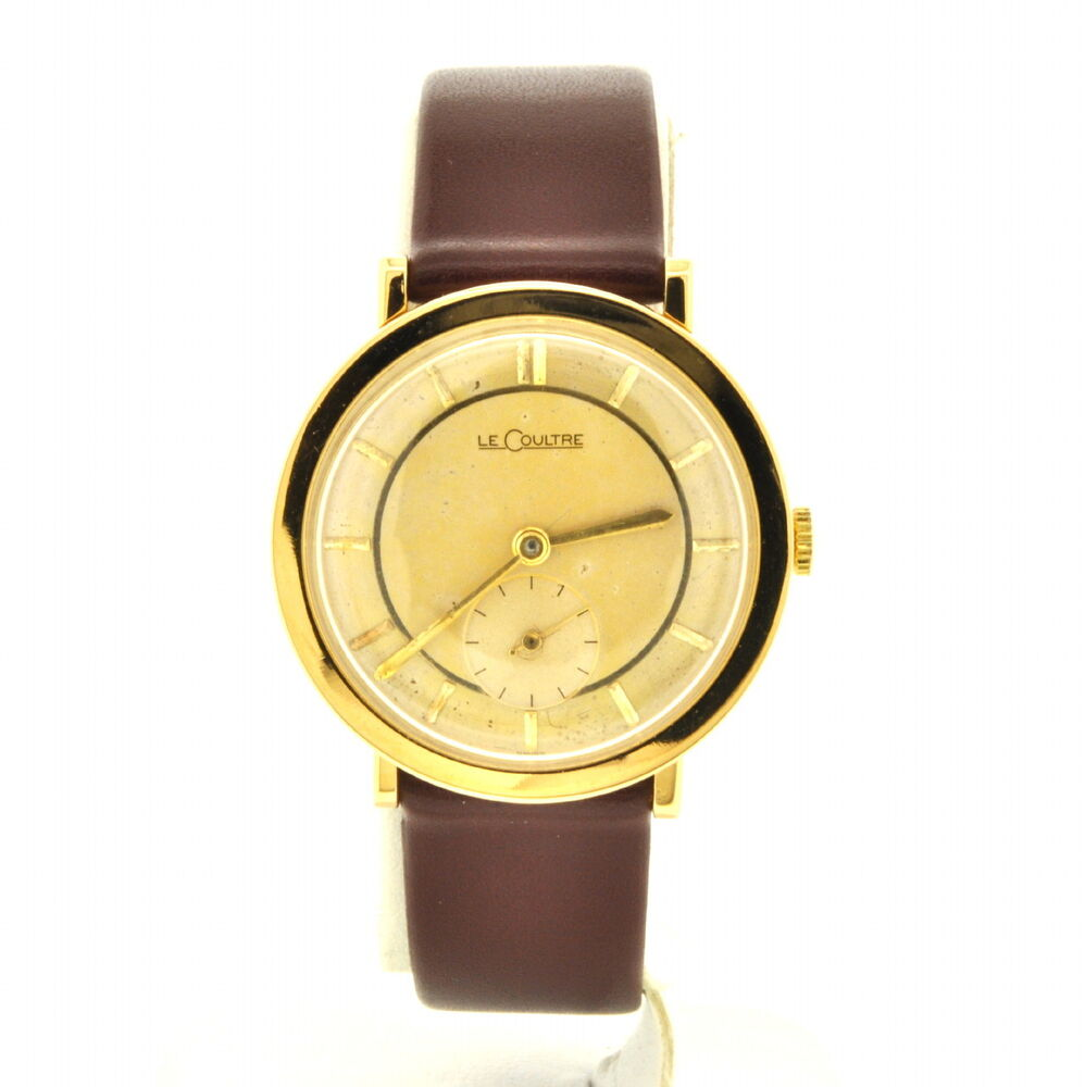 lecoultre mens vintage14k yellow solid gold ebay