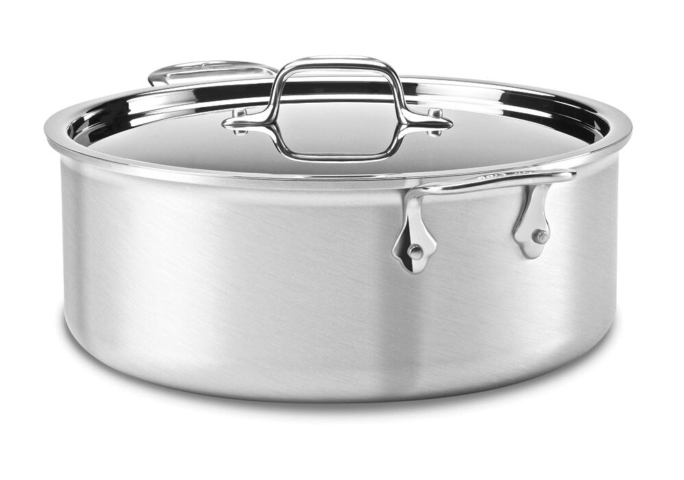 Nib All Clad Mc2 Master Chef 2 8 Qt Stock Pot W Lid 3