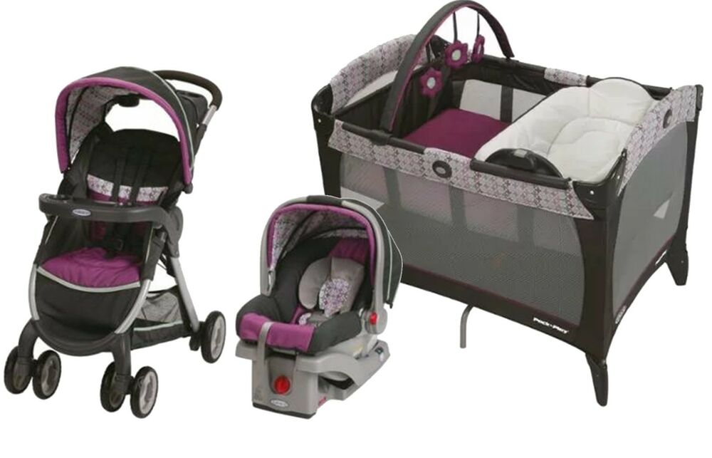 Baby Strollers And Car Seats: Graco Baby Stroller Car Seat Nursery Playard Travel System