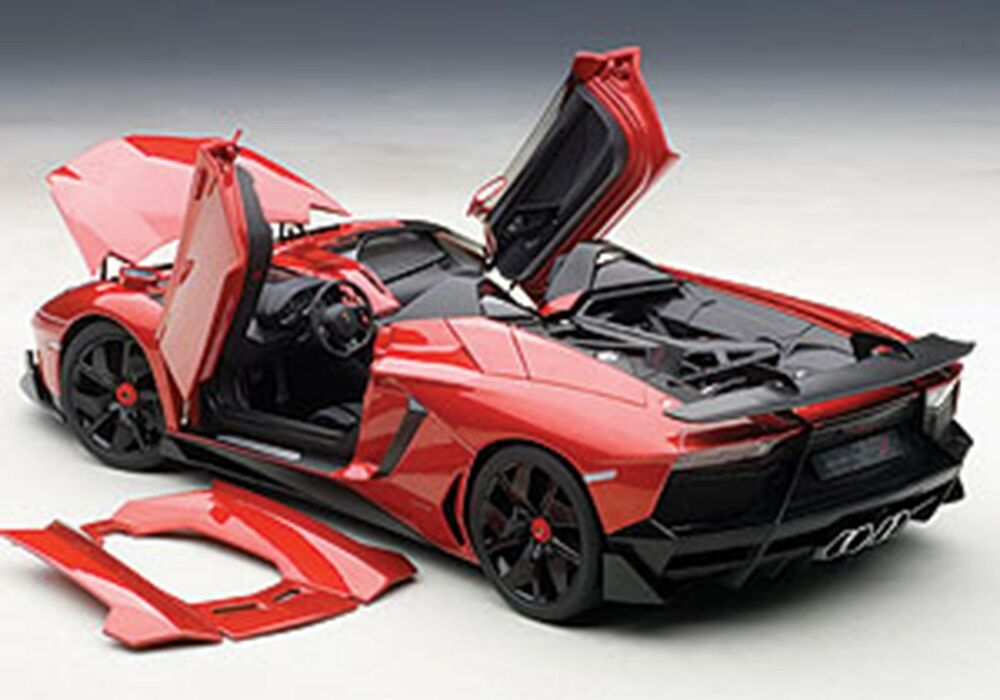 autoart lamborghini aventador j metallic red in 1 18 scale new in stock ebay. Black Bedroom Furniture Sets. Home Design Ideas