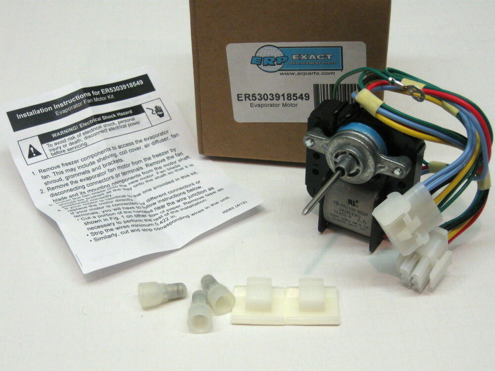 Er5303918549 for frigidaire refrigerator freezer fan motor for Frigidaire refrigerator evaporator fan motor 5303918549