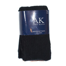 Anne Klein Tights Black Sweater Cable Knit Women Medium/Large M/L 6072