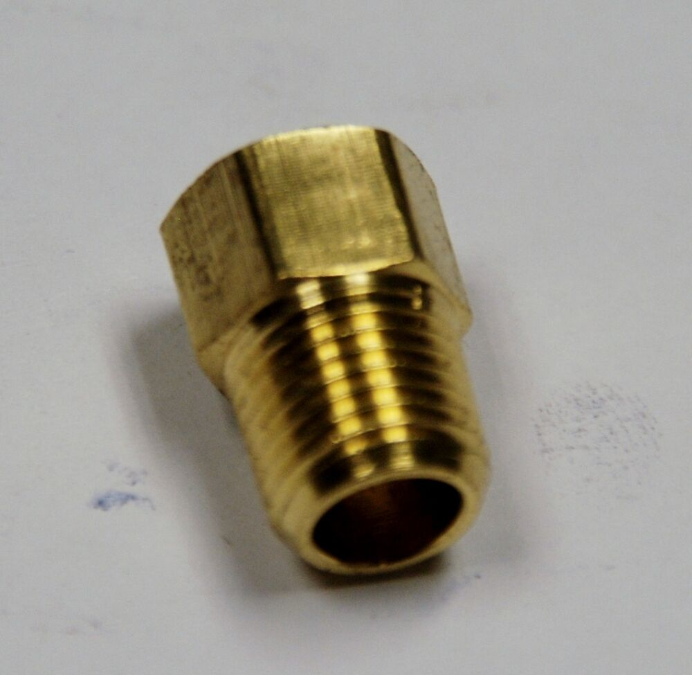 Brass fittings inverted flare connector male pipe