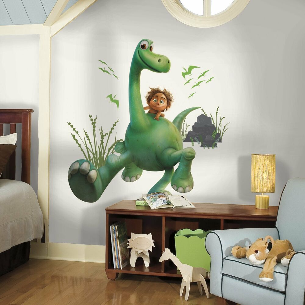 The good dinosaur arlo big wall decals spot room decor for Dinosaur mural ideas