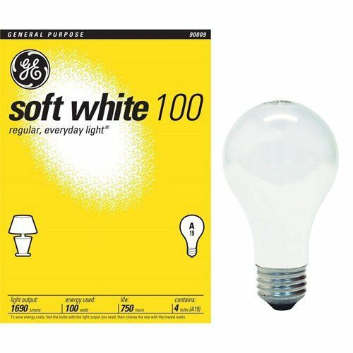 48 100 Watt Ge Soft White Light Bulbs Case Of 48 Ebay