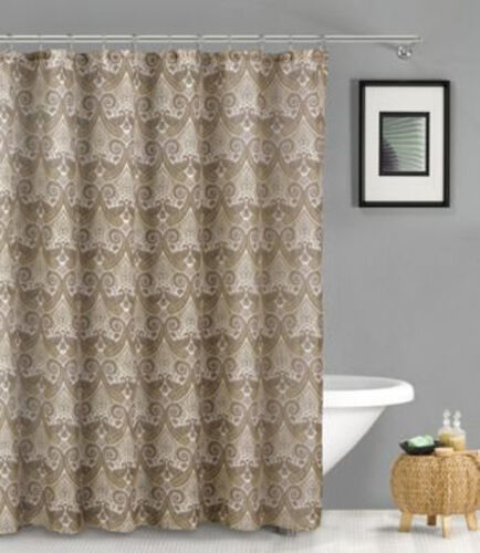 Duck River Textiles French Riviera Linen Look Shower Curtain Taupe Ebay