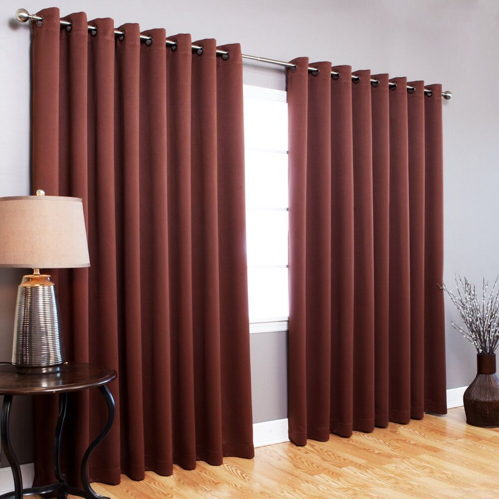 Home Fashion Wide Width Thermal Insulated Blackout Curtain