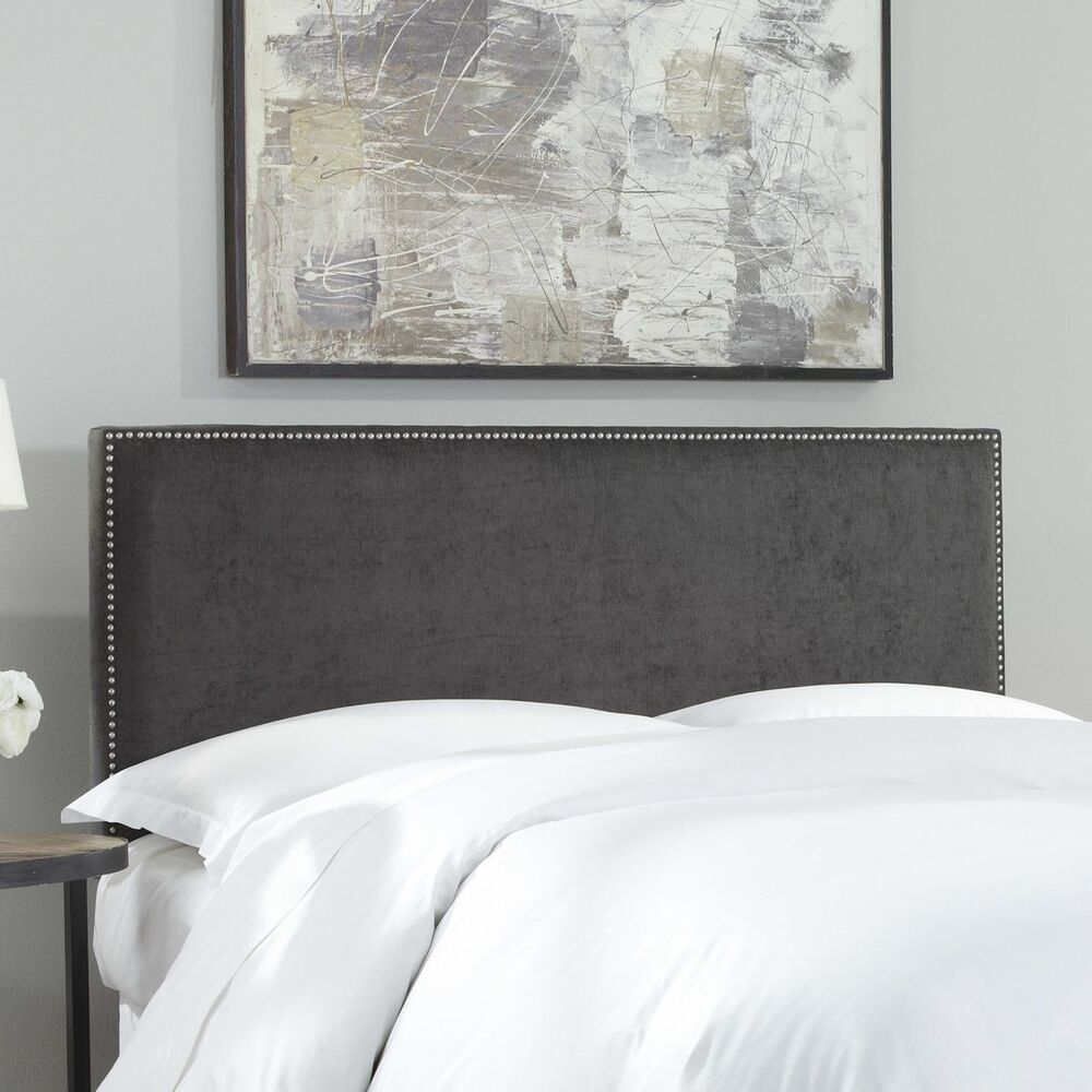 Fashion Bed Group Zurich Pewter Upholstered Headboard With
