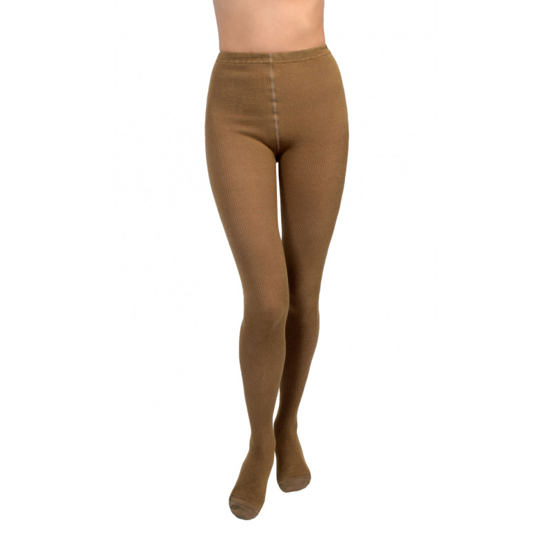 a1b3ab73324 Details about Womens Warm Thermal Thick Ribbed Knit Camel Wool Tights