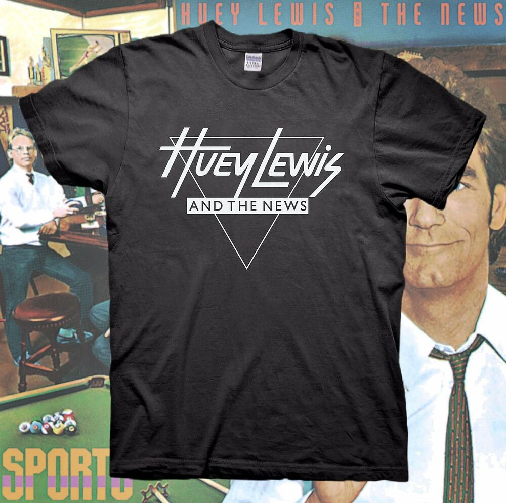 huey lewis and the news t shirt tour back to the future hall oates vintage 80s ebay. Black Bedroom Furniture Sets. Home Design Ideas