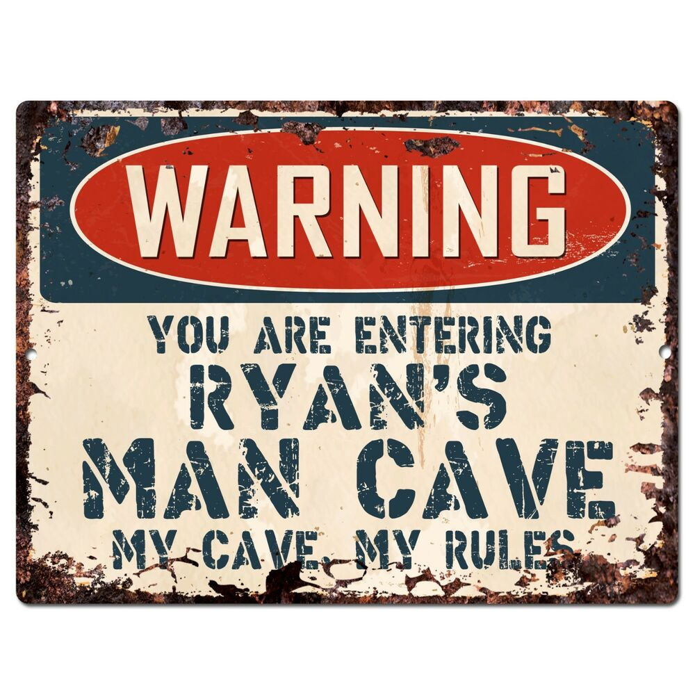 Stores That Sell Man Cave Signs : Pp warning entering ryan s man cave chic sign home