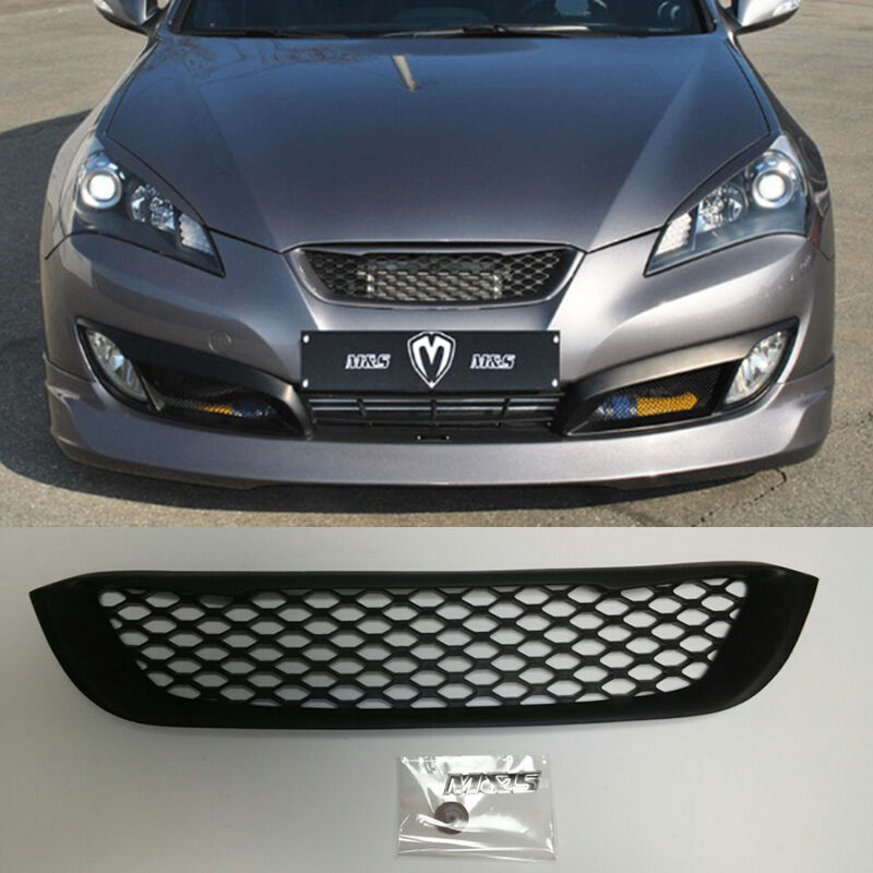 m s type d replacement radiator grille for hyundai genesis coupe 09 12 bk1 ebay. Black Bedroom Furniture Sets. Home Design Ideas