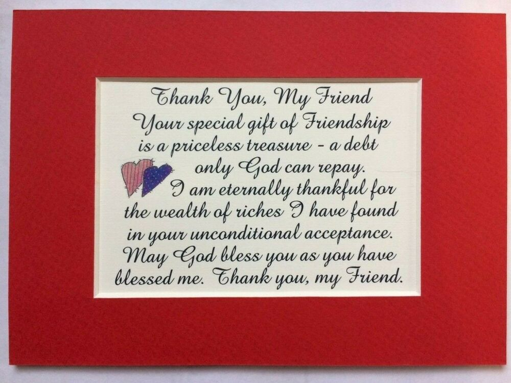 God Bless You Friend Gift Priceless Treasure Friendship Verses Poems