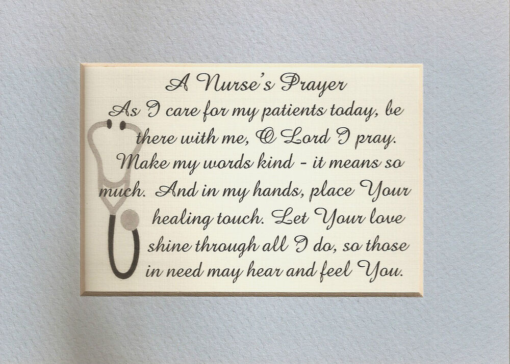 Nurse prayer healing touch care patients kind hands amp words verses