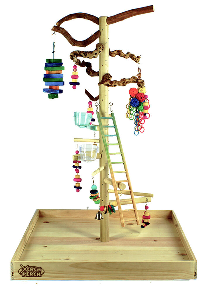 Lg parrot play stand bird perch stand parrot stand parrot for How to build a bird stand